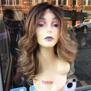 Ombré blonde brown wig Freepart Lacefront wigvln